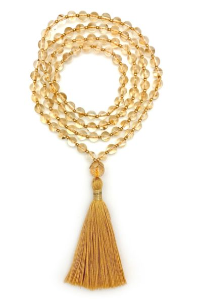 24k Golden Citrine Mala