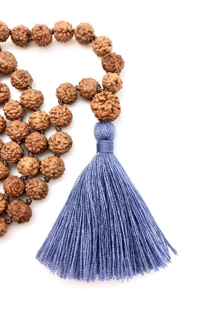6mm rudraksha with 8mm guru bead