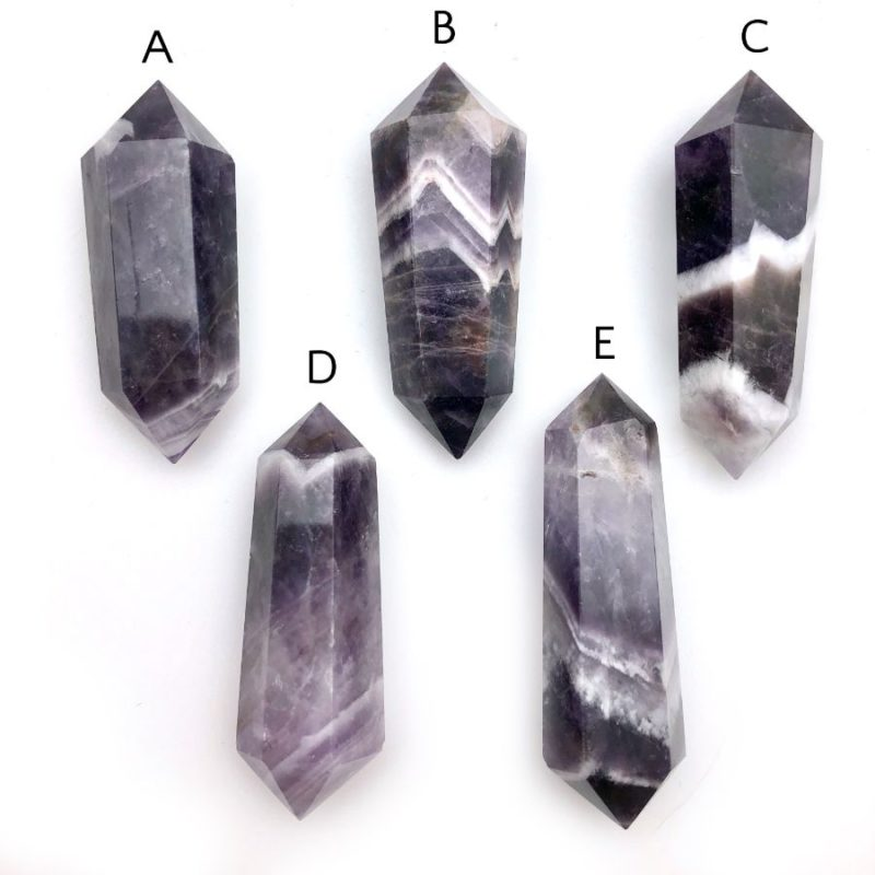 Banded Amethyst Double Pointed Crystals