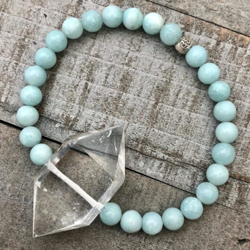 amazonite & double point quartz bracelet