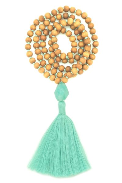 amazonite sandalwood mala