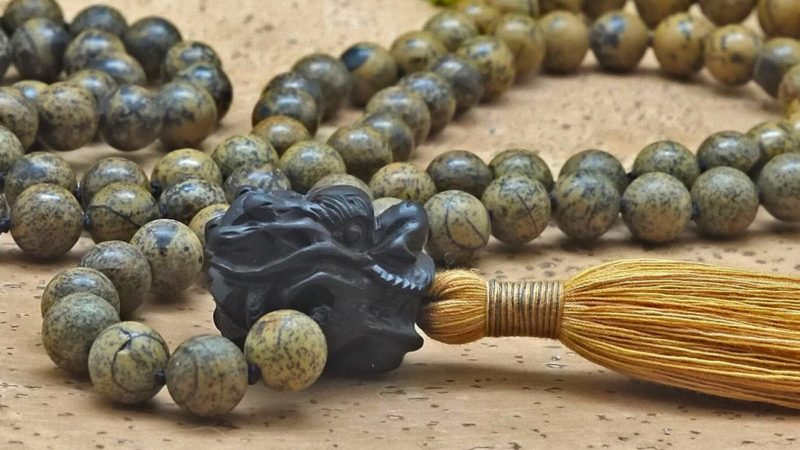black dragon head mala