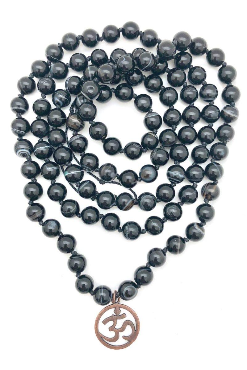 black onyx om mala