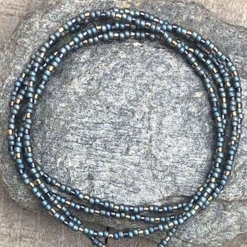 blue lotus necklace beads