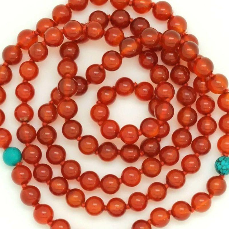 carnelian turquoise beads