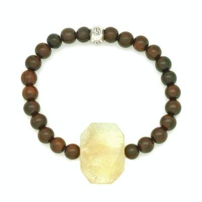 citrine om rosewood bracelet