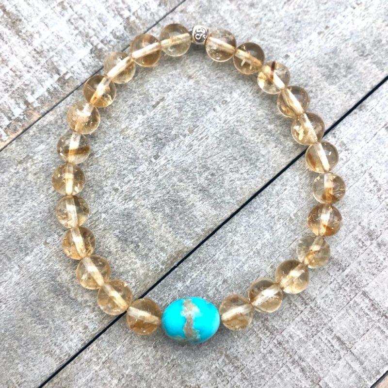 citrine turquoise bracelet