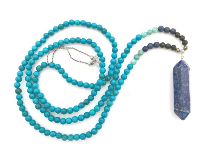double point lapis turquoise necklace