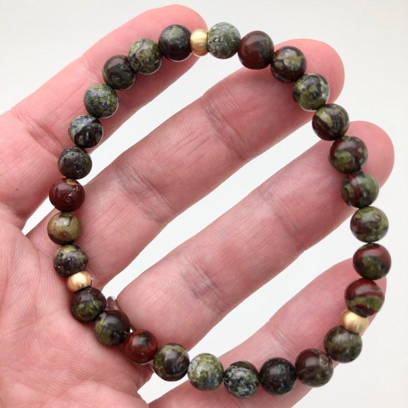 dragon blood brass bracelet
