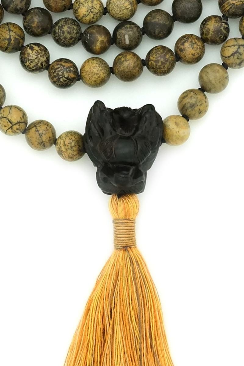 dragon mala guru bead