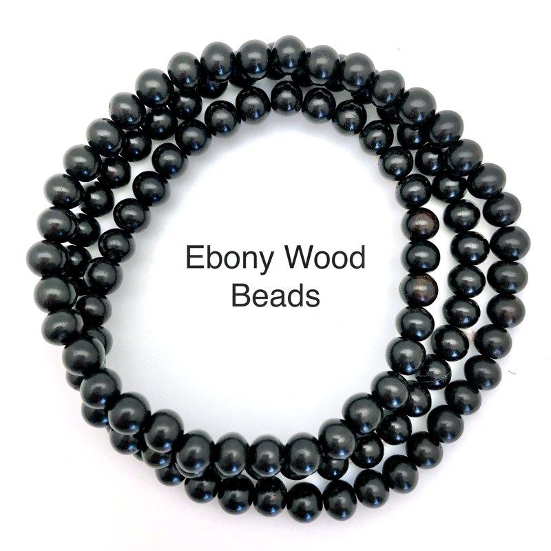 ebony wood beads