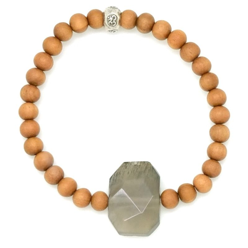 faceted moonstone bracelet