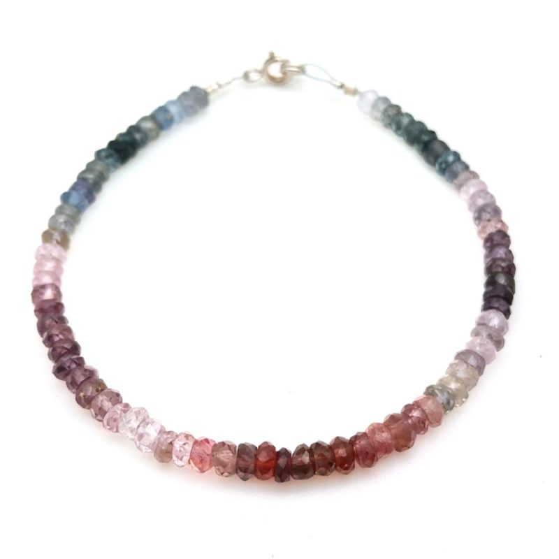 faceted spinel bracelet