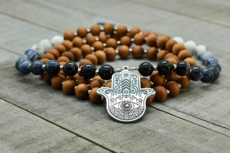 hamsa prayer bead necklace