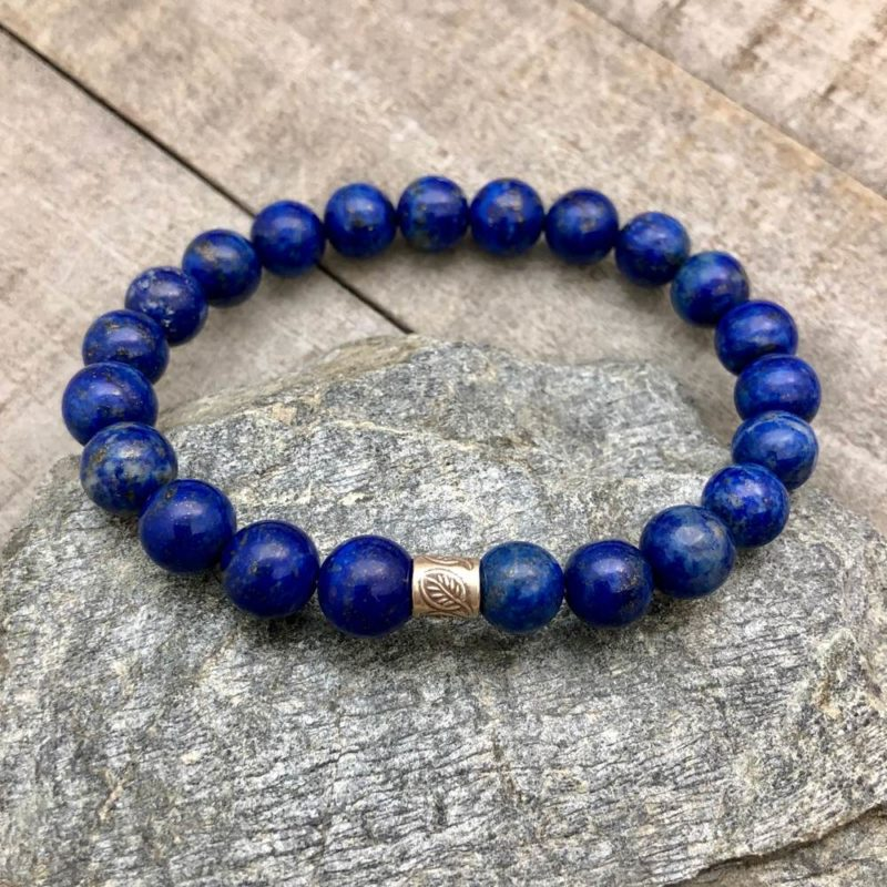 lapis stretch bracelet