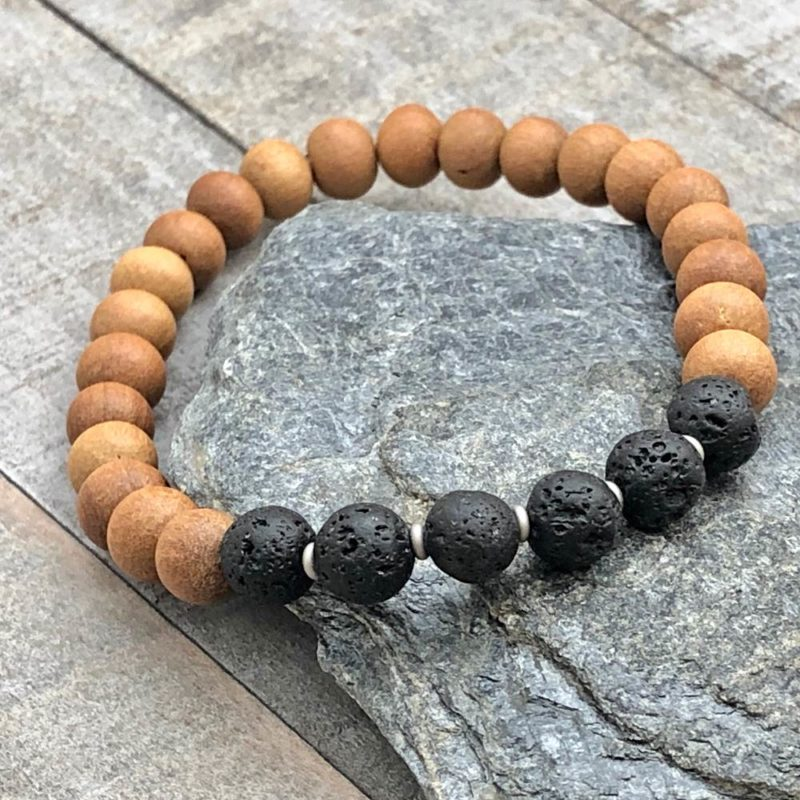 lava sandalwood stretch bracelet