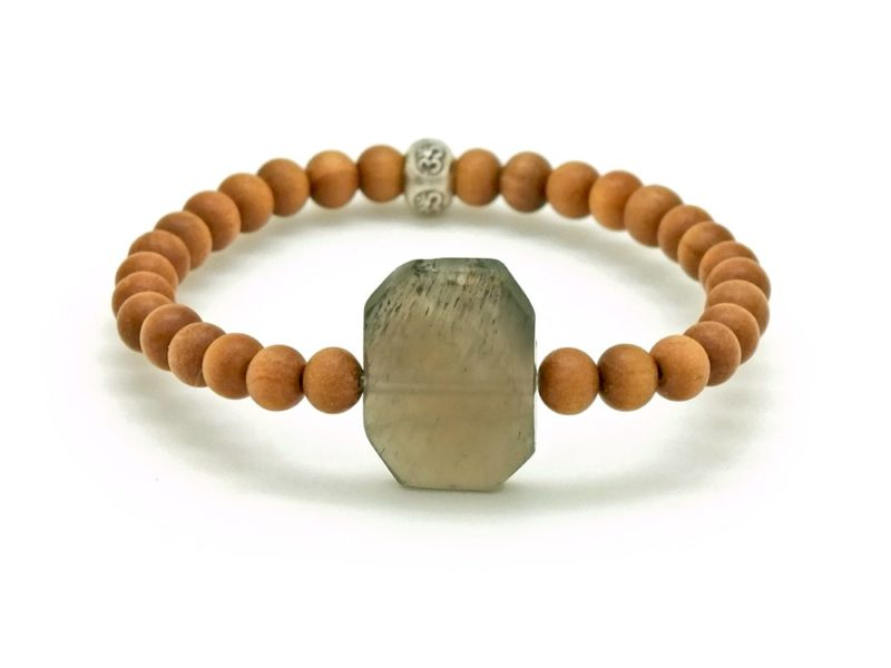 moonstone sandalwood bracelet