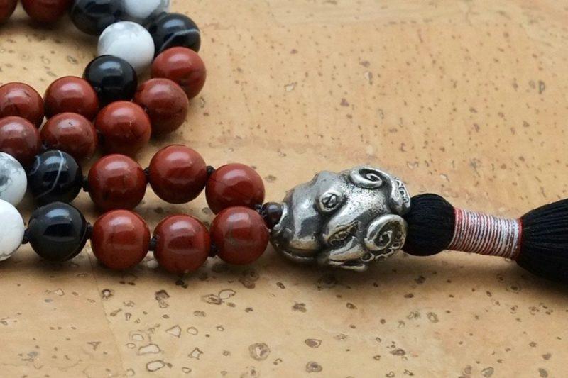 octopus mala guru bead side