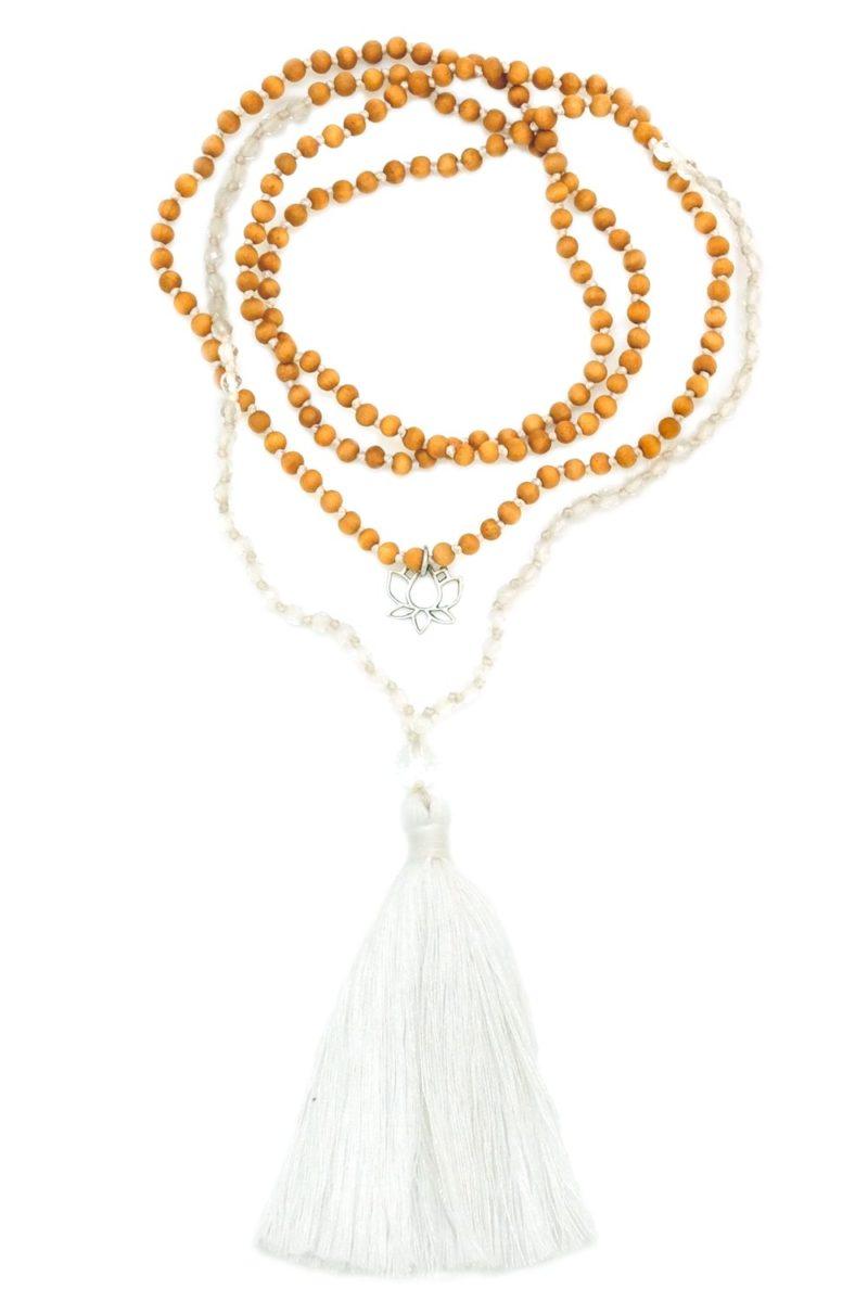 petite quartz tassel necklace