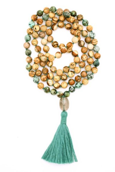 picture & african turquoise jasper mala