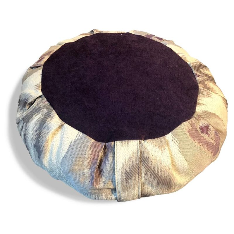 purple meditation cushion