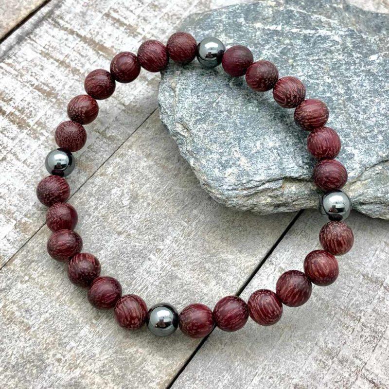 purpleheart hematite bracelet