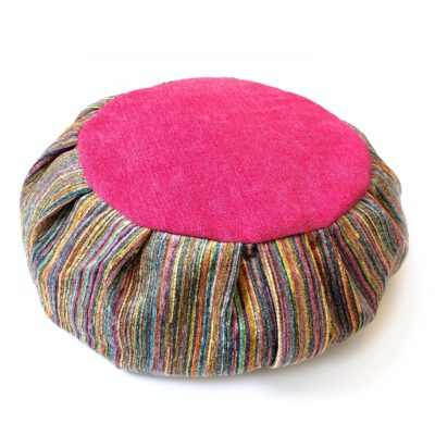 rainbow meditation cushion