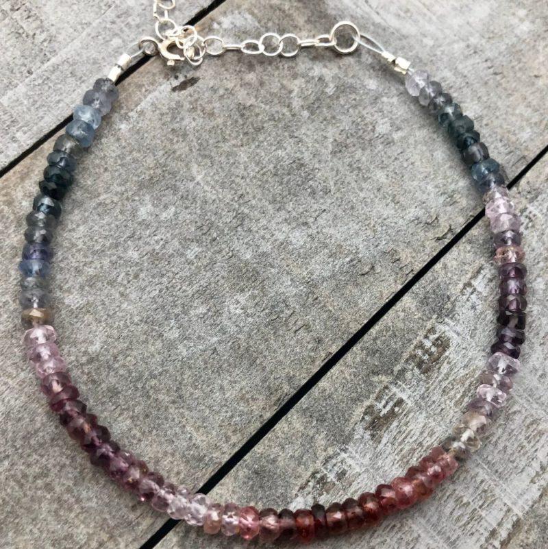 rainbow spinel bracelet extender chain