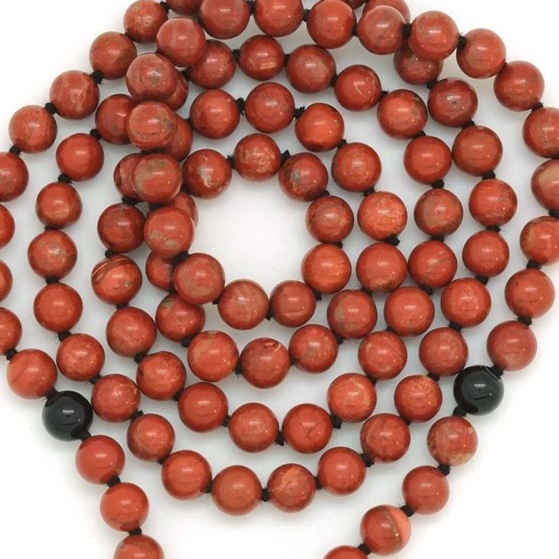 red jasper black onyx beads