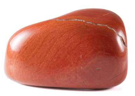 tumbled red jasper stone
