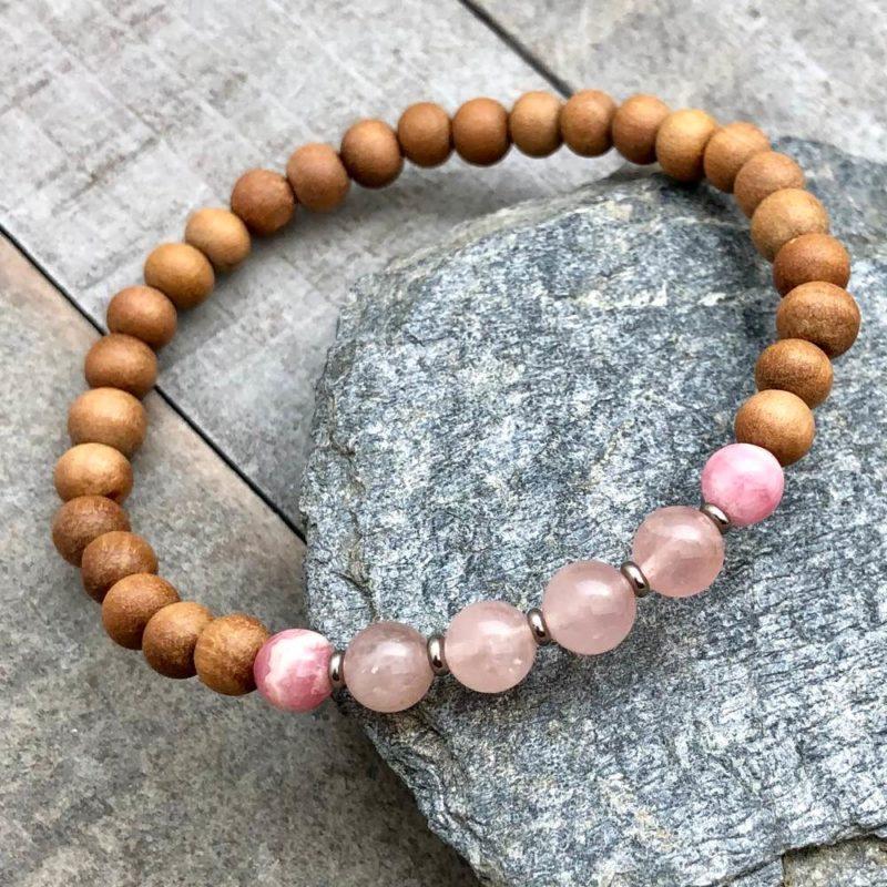 rose quartz rhodochrosite sandalwood