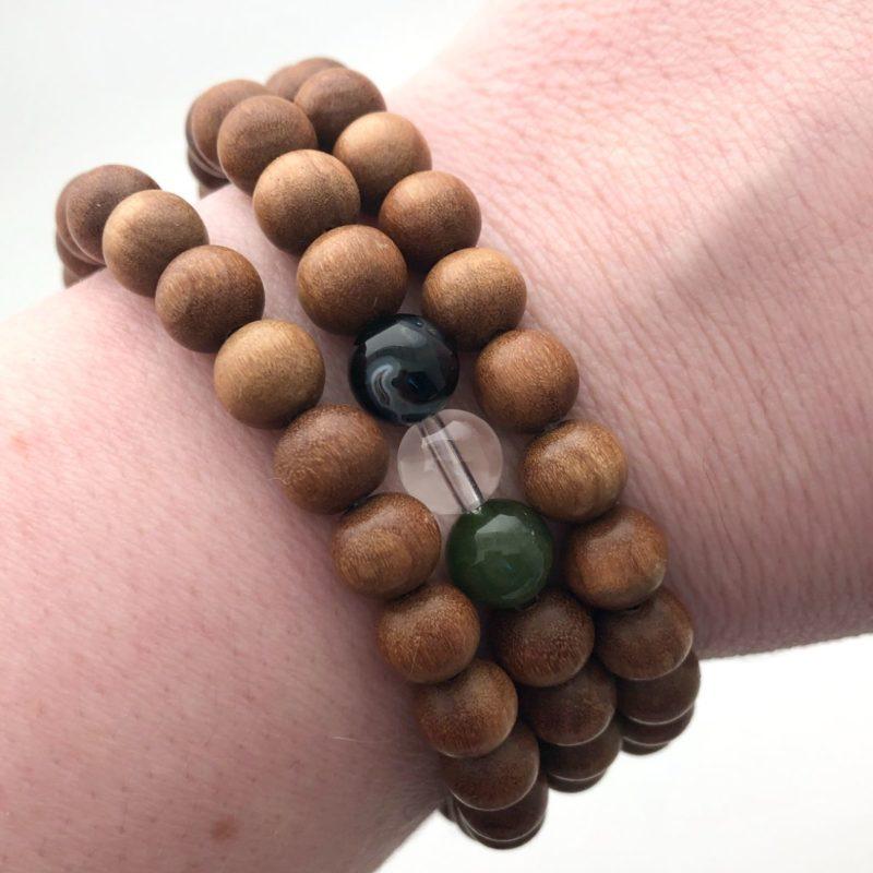 sandalwood gem bracelets