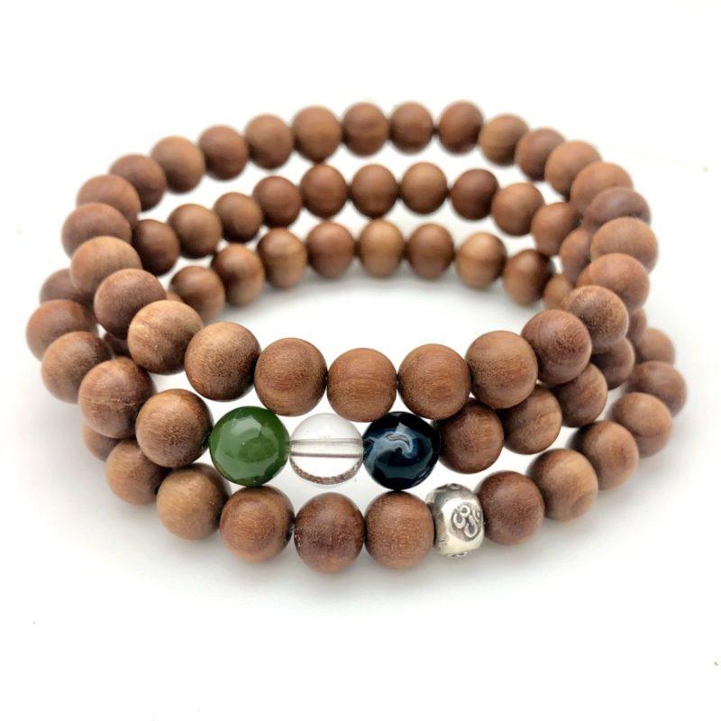 sandalwood jade quartz onyx bracelets