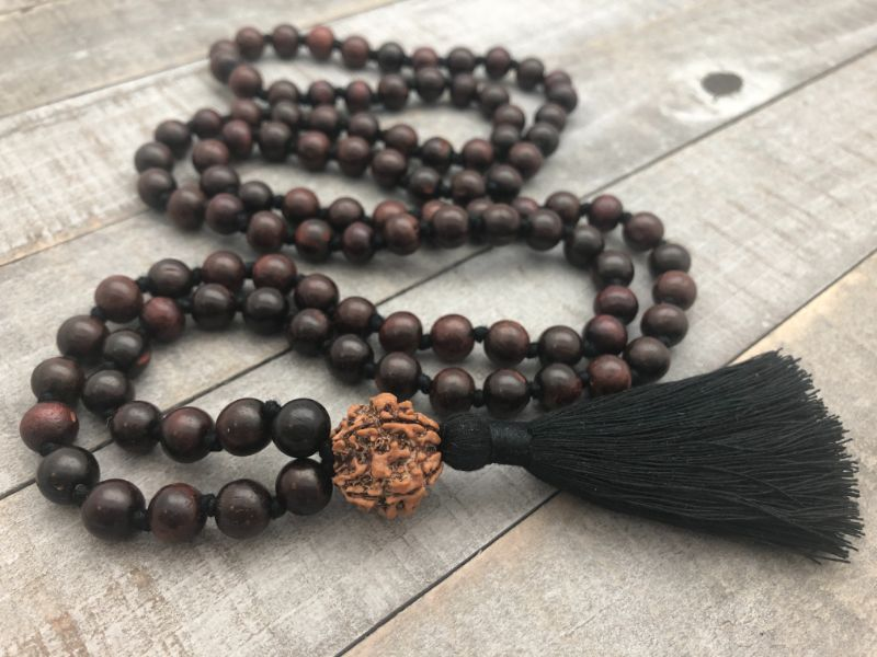 shiva mala with rosewood