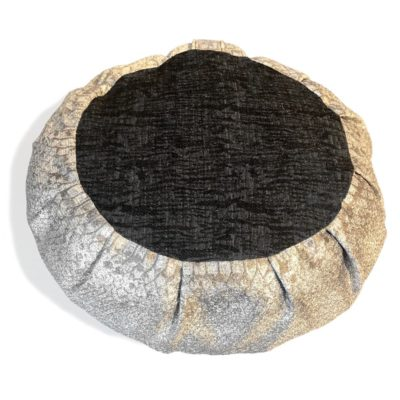 silver & black meditation cushion