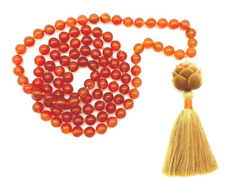 sunset mala beads