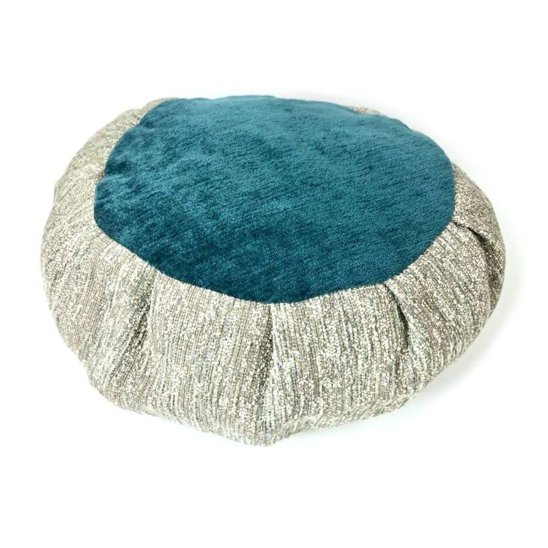 teal meditation cushion