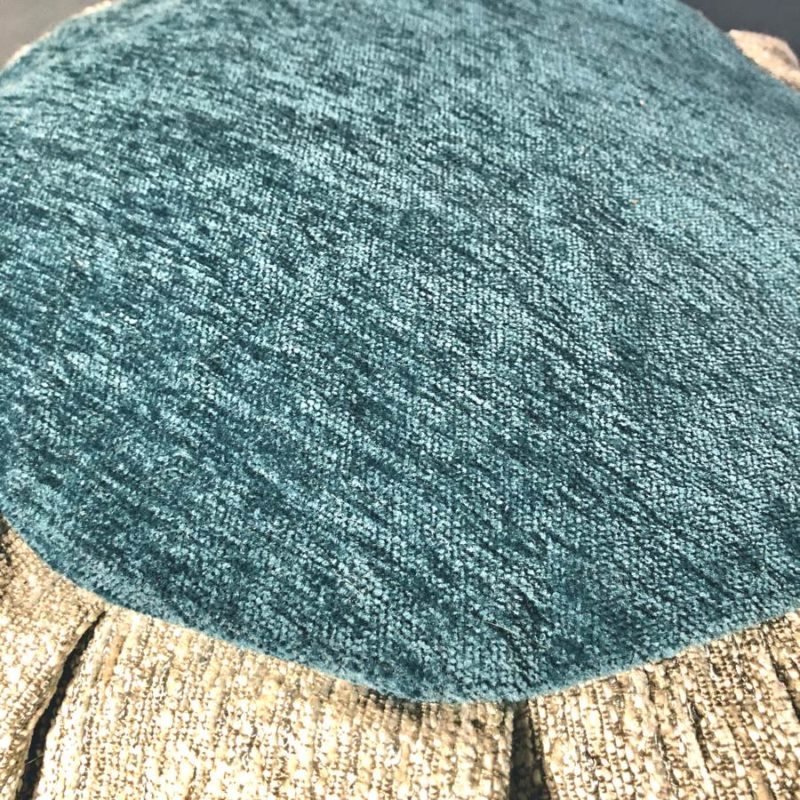 teal meditation cushion top